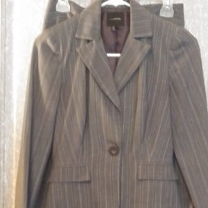 2pc. Grey Pinstripe Suit from MyMichele Sz. S/1
